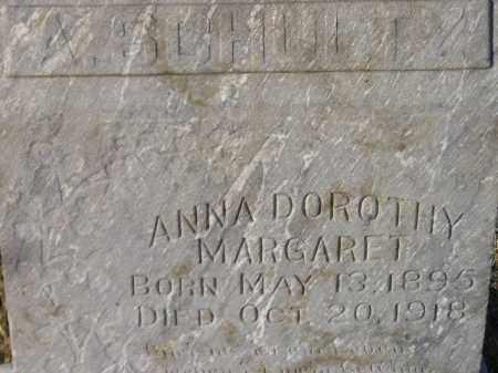 SCHULTZ, ANNA DOROTHY MARGARET - Miner County, South Dakota   ANNA DOROTHY MARGARET SCHULTZ - South Dakota Gravestone Photos