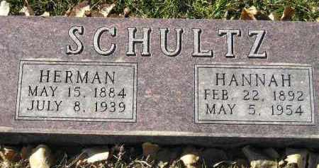 SCHULTZ, HANNAH - Miner County, South Dakota | HANNAH SCHULTZ - South Dakota Gravestone Photos