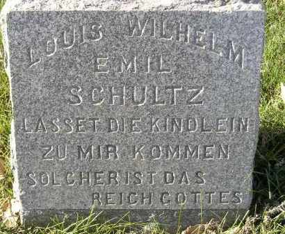 SCHULTZ, LOUIS WILHELM EMIL - Miner County, South Dakota | LOUIS WILHELM EMIL SCHULTZ - South Dakota Gravestone Photos