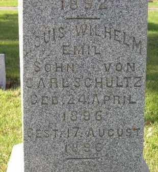 SCHULTZ, LOUIS WILHELM EMIL 1892 - Miner County, South Dakota | LOUIS WILHELM EMIL 1892 SCHULTZ - South Dakota Gravestone Photos