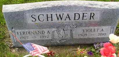 SCHWADER, VIOLET A - Miner County, South Dakota   VIOLET A SCHWADER - South Dakota Gravestone Photos