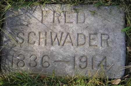SCHWADER, FRED - Miner County, South Dakota | FRED SCHWADER - South Dakota Gravestone Photos