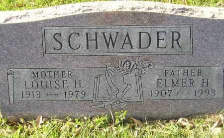 SCHWADER, ELMER H. - Miner County, South Dakota | ELMER H. SCHWADER - South Dakota Gravestone Photos