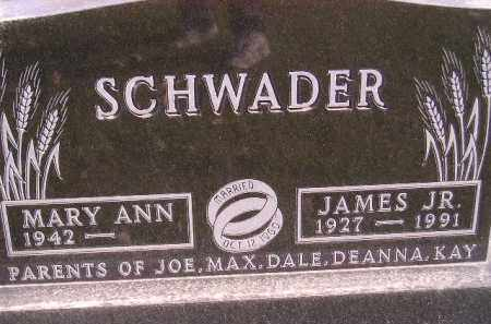 SCHWADER, MARY ANN - Miner County, South Dakota | MARY ANN SCHWADER - South Dakota Gravestone Photos