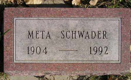 SCHWADER, META - Miner County, South Dakota | META SCHWADER - South Dakota Gravestone Photos