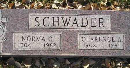 SCHWADER, NORMA C. - Miner County, South Dakota | NORMA C. SCHWADER - South Dakota Gravestone Photos