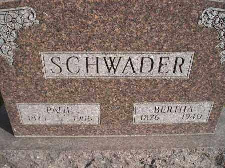 SCHWADER, PAUL - Miner County, South Dakota | PAUL SCHWADER - South Dakota Gravestone Photos