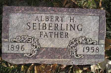 SEIBERLING, ALBERT H. - Miner County, South Dakota | ALBERT H. SEIBERLING - South Dakota Gravestone Photos
