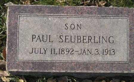 SEUBERLING, PAUL - Miner County, South Dakota | PAUL SEUBERLING - South Dakota Gravestone Photos