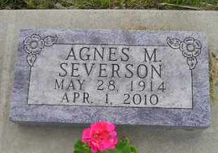 SEVERSON, AGNES M - Miner County, South Dakota | AGNES M SEVERSON - South Dakota Gravestone Photos