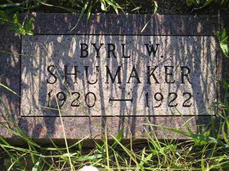 SHUMAKER, BYRL W. - Miner County, South Dakota | BYRL W. SHUMAKER - South Dakota Gravestone Photos