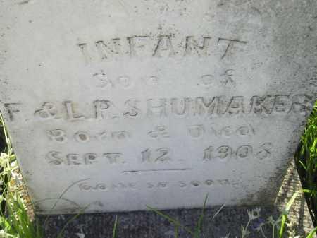 SHUMAKER, INFANT SON - Miner County, South Dakota | INFANT SON SHUMAKER - South Dakota Gravestone Photos