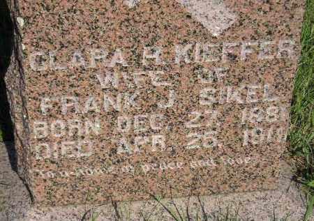 SIKEL, CLARA H. - Miner County, South Dakota | CLARA H. SIKEL - South Dakota Gravestone Photos