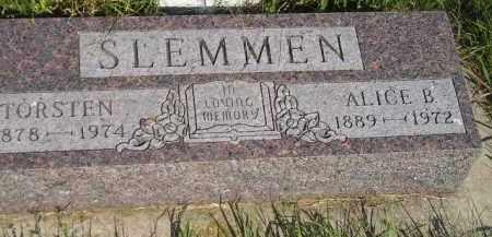 SLEMMEN, TORSTEN - Miner County, South Dakota | TORSTEN SLEMMEN - South Dakota Gravestone Photos
