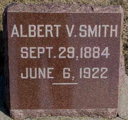 SMITH, ALBERT V. - Miner County, South Dakota   ALBERT V. SMITH - South Dakota Gravestone Photos