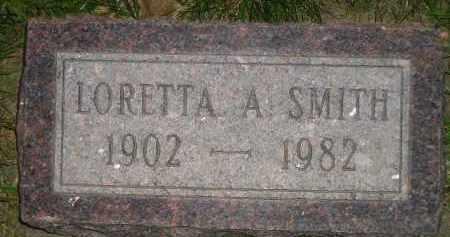 SMITH, LORETTA A. - Miner County, South Dakota   LORETTA A. SMITH - South Dakota Gravestone Photos