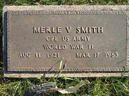 SMITH, MERLE V. (WW II) - Miner County, South Dakota   MERLE V. (WW II) SMITH - South Dakota Gravestone Photos