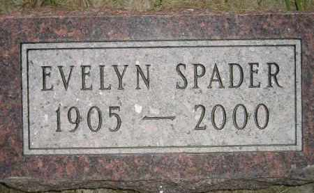 SPADER, EVELYN - Miner County, South Dakota | EVELYN SPADER - South Dakota Gravestone Photos