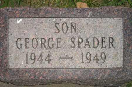 SPADER, GEORGE - Miner County, South Dakota | GEORGE SPADER - South Dakota Gravestone Photos