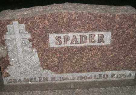 SPADER, LEO P. - Miner County, South Dakota | LEO P. SPADER - South Dakota Gravestone Photos