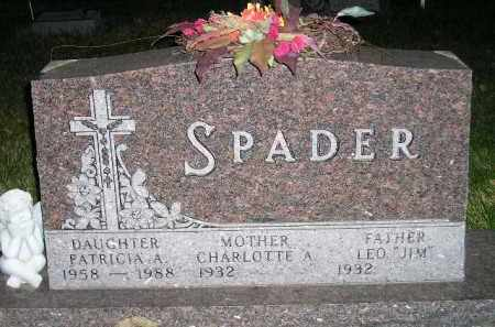 SPADER, PATRICIA ANNE - Miner County, South Dakota | PATRICIA ANNE SPADER - South Dakota Gravestone Photos