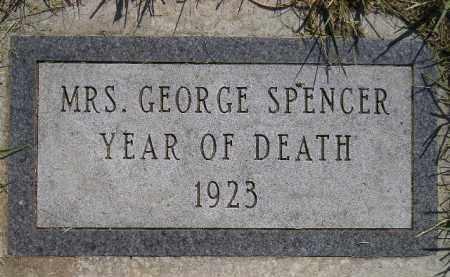 SPENCER, MRS. GEORGE - Miner County, South Dakota | MRS. GEORGE SPENCER - South Dakota Gravestone Photos