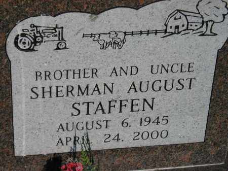 STAFFEN, SHERMAN AUGUST - Miner County, South Dakota | SHERMAN AUGUST STAFFEN - South Dakota Gravestone Photos
