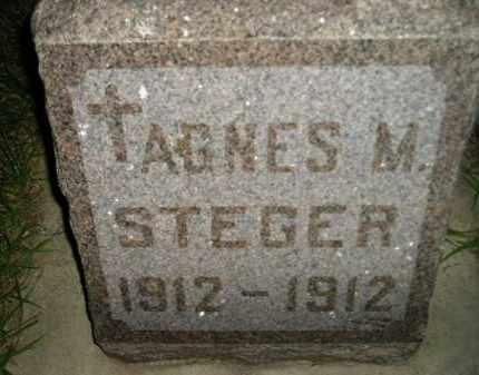 STEGER, AGNES M. - Miner County, South Dakota | AGNES M. STEGER - South Dakota Gravestone Photos