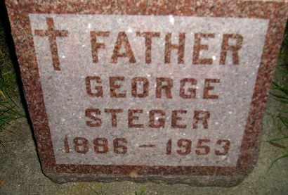 STEGER, GEORGE - Miner County, South Dakota | GEORGE STEGER - South Dakota Gravestone Photos