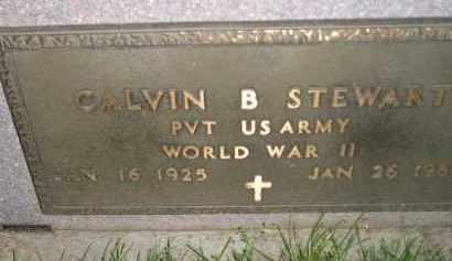 STEWART, CALVIN B. (WW II) - Miner County, South Dakota | CALVIN B. (WW II) STEWART - South Dakota Gravestone Photos