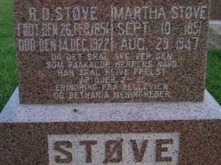 STOVE, MARTHA - Miner County, South Dakota | MARTHA STOVE - South Dakota Gravestone Photos