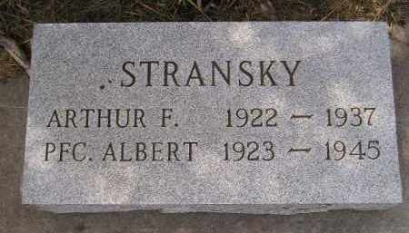 STRANSKY, ARTHUR F. - Miner County, South Dakota | ARTHUR F. STRANSKY - South Dakota Gravestone Photos