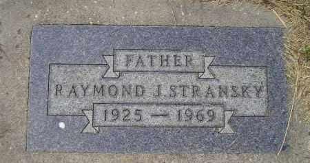 STRANSKY, RAYMOND J. - Miner County, South Dakota   RAYMOND J. STRANSKY - South Dakota Gravestone Photos