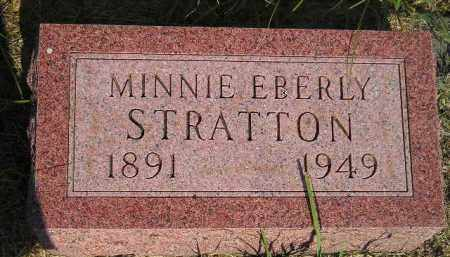 EBERLY STRATTON, MINNIE - Miner County, South Dakota | MINNIE EBERLY STRATTON - South Dakota Gravestone Photos