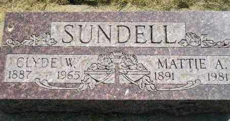SUNDELL, MATTIE A. - Miner County, South Dakota | MATTIE A. SUNDELL - South Dakota Gravestone Photos