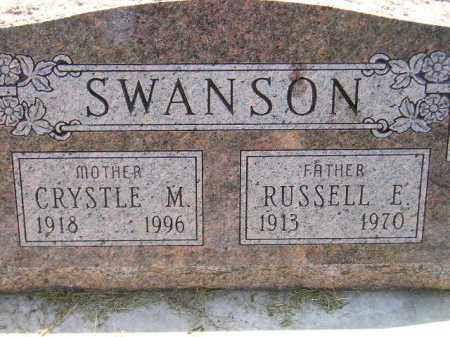 SWANSON, RUSSELL E. - Miner County, South Dakota | RUSSELL E. SWANSON - South Dakota Gravestone Photos