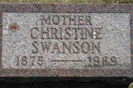 SWANSON, CHRISTINE - Miner County, South Dakota | CHRISTINE SWANSON - South Dakota Gravestone Photos