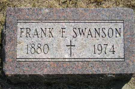 SWANSON, FRANK F. - Miner County, South Dakota | FRANK F. SWANSON - South Dakota Gravestone Photos