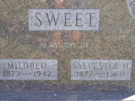 SWEET, SYLVESTER H. - Miner County, South Dakota | SYLVESTER H. SWEET - South Dakota Gravestone Photos