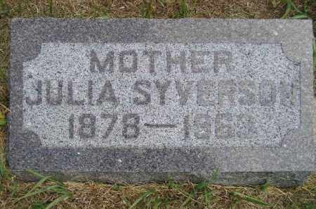 SYVERSON, JULIA GUTTERSON - Miner County, South Dakota | JULIA GUTTERSON SYVERSON - South Dakota Gravestone Photos