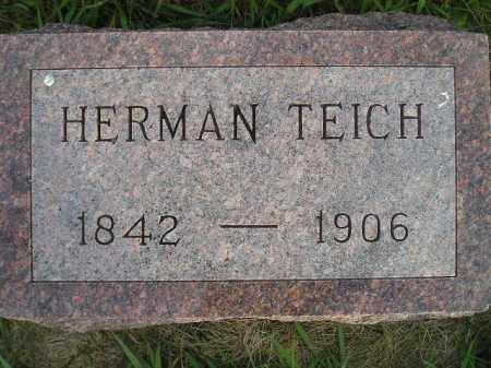 TEICH, HERMAN - Miner County, South Dakota   HERMAN TEICH - South Dakota Gravestone Photos