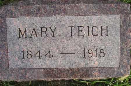 TEICH, MARY - Miner County, South Dakota | MARY TEICH - South Dakota Gravestone Photos