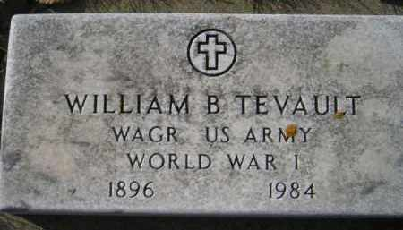 TEVAULT, WILLIAM B. (WW I) - Miner County, South Dakota | WILLIAM B. (WW I) TEVAULT - South Dakota Gravestone Photos