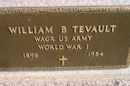 TEVAULT, WILLIAM B. - Miner County, South Dakota | WILLIAM B. TEVAULT - South Dakota Gravestone Photos