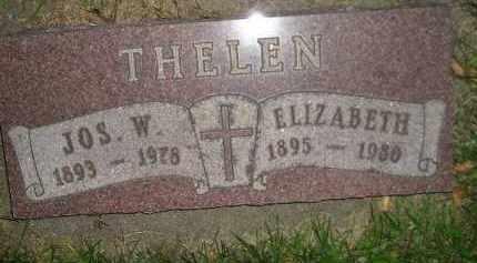 THELEN, ELIZABETH - Miner County, South Dakota | ELIZABETH THELEN - South Dakota Gravestone Photos