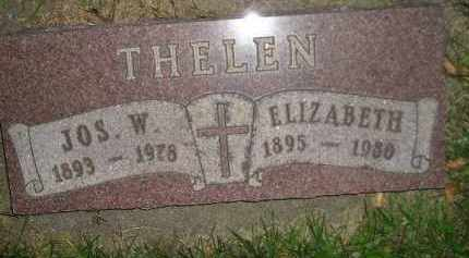 THELEN, ELIZABETH - Miner County, South Dakota | ELIZABETH THELEN - South Dakota Gravestone Photos