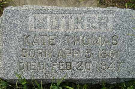 THOMAS, KATE (MORGANS) - Miner County, South Dakota | KATE (MORGANS) THOMAS - South Dakota Gravestone Photos