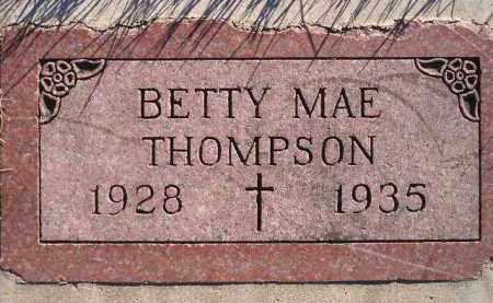 THOMPSON, BETTY MAE - Miner County, South Dakota | BETTY MAE THOMPSON - South Dakota Gravestone Photos