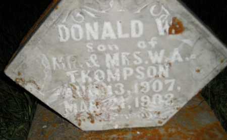 THOMPSON, DONALD W. - Miner County, South Dakota | DONALD W. THOMPSON - South Dakota Gravestone Photos