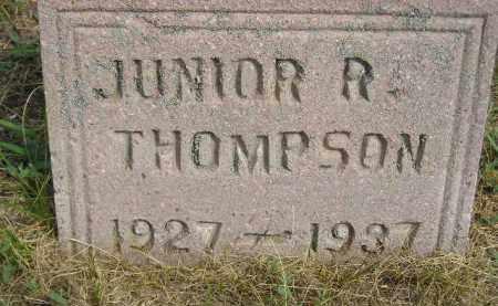 THOMPSON, JUNIOR R. - Miner County, South Dakota | JUNIOR R. THOMPSON - South Dakota Gravestone Photos